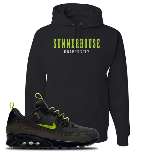 The Basement X Nike Air Max 90 Manchester Summerhouse University Black Sneaker Matching Pullover Hoodie