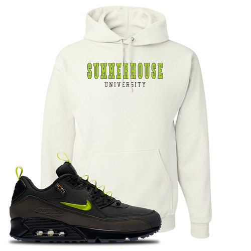 The Basement X Nike Air Max 90 Manchester Summerhouse University White Sneaker Matching Pullover Hoodie