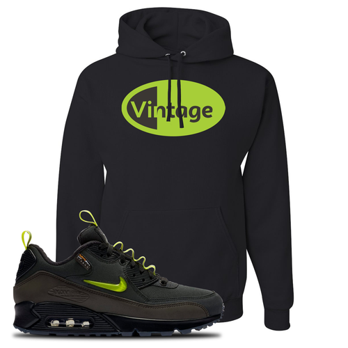 The Basement X Nike Air Max 90 Manchester Vintage Oval Black Sneaker Matching Pullover Hoodie