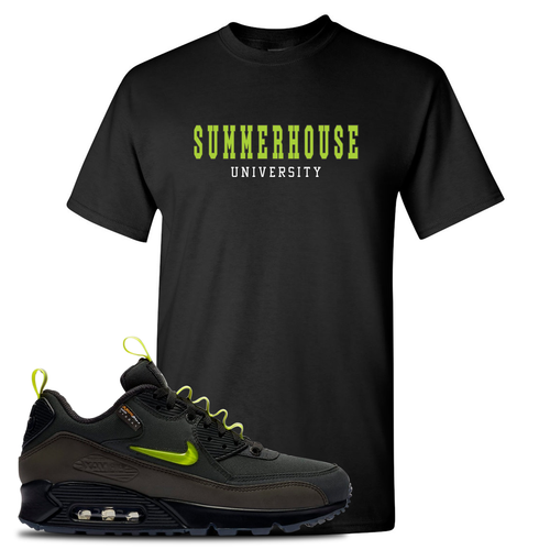 The Basement X Nike Air Max 90 Manchester Summerhouse University Black Sneaker Matching T-Shirt