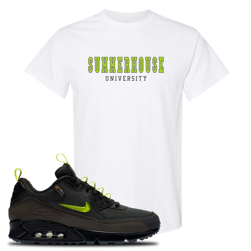 The Basement X Nike Air Max 90 Manchester Summerhouse University White Sneaker Matching T-Shirt