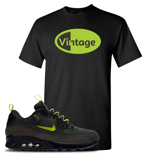 The Basement X Nike Air Max 90 Manchester Vintage Oval Black Sneaker Matching T-Shirt