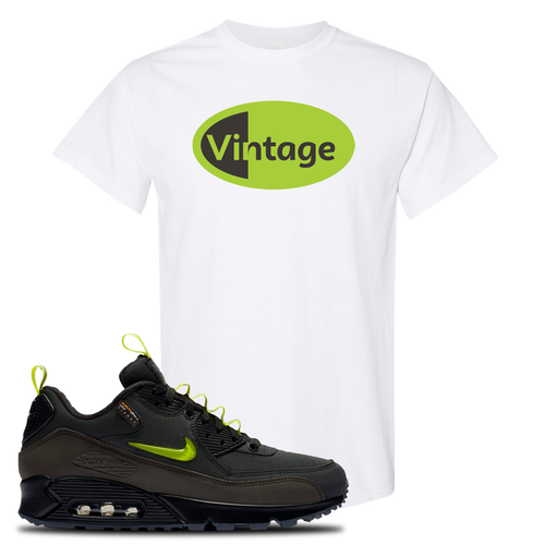 The Basement X Nike Air Max 90 Manchester Vintage Oval White Sneaker Matching T-Shirt