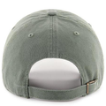 the back of the olive green and pink baltimore orioles women's dad hat is an olive green adjustable strap