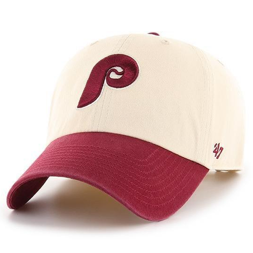 c79989f7c79 on the front of the philadelphia phillies cooperstown vintage two-tone ball  cap is the