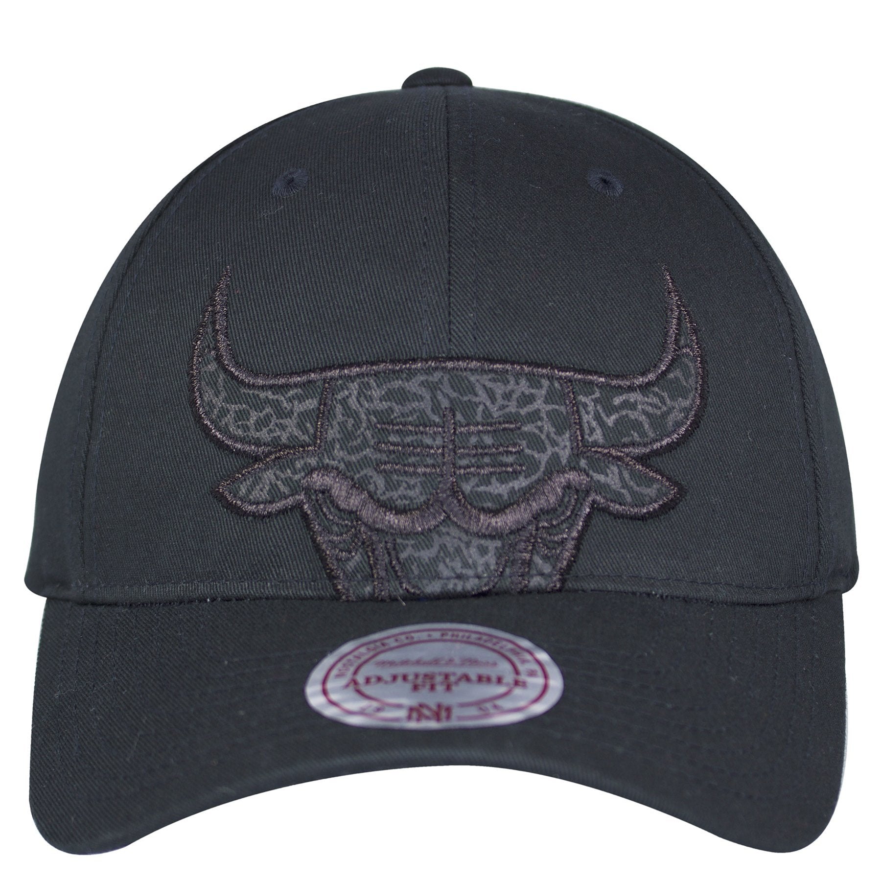 competitive price eb6f1 5f216 on the front of the Chicago Bulls Retro Air Jordan 3 Black Cat Sneaker  Matching Snapback