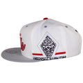The sides of this Chicago Bulls Air Jordan Snapback Hat shows a diamond shape design in each left and right panel, the diamond shape is attached to the edge.