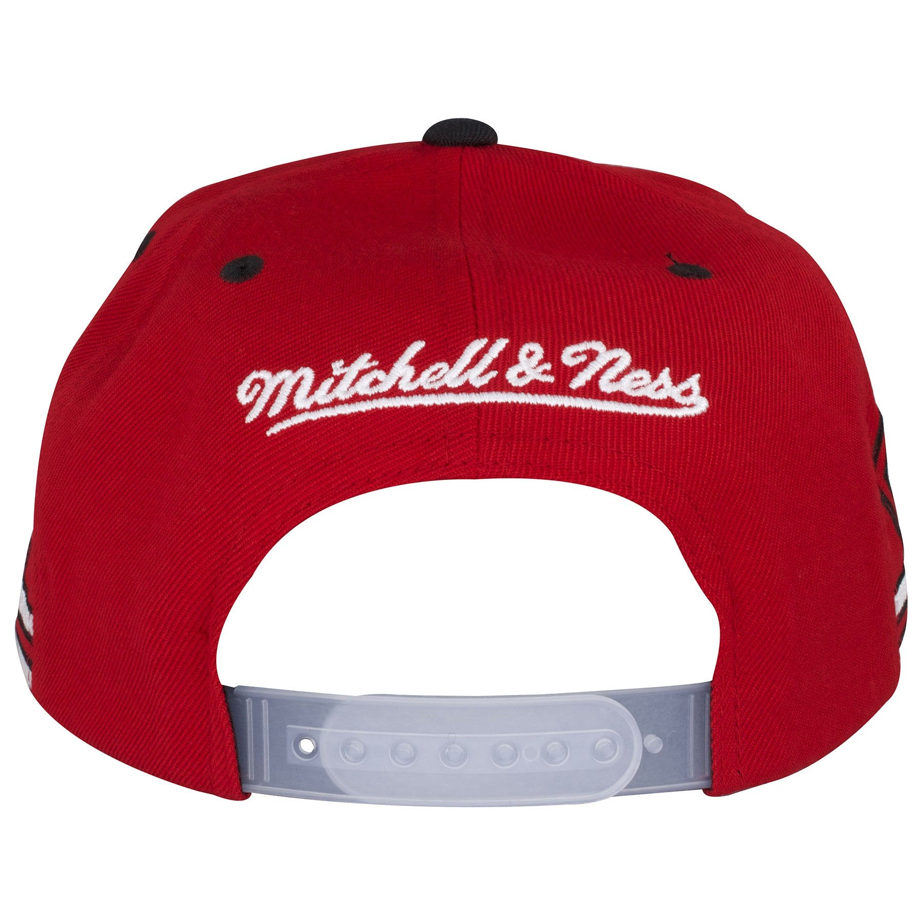 3d6996bb73e ... The back of this Win Like 96 Snapback hat shows the Mitchell and Ness  embroidered in ...