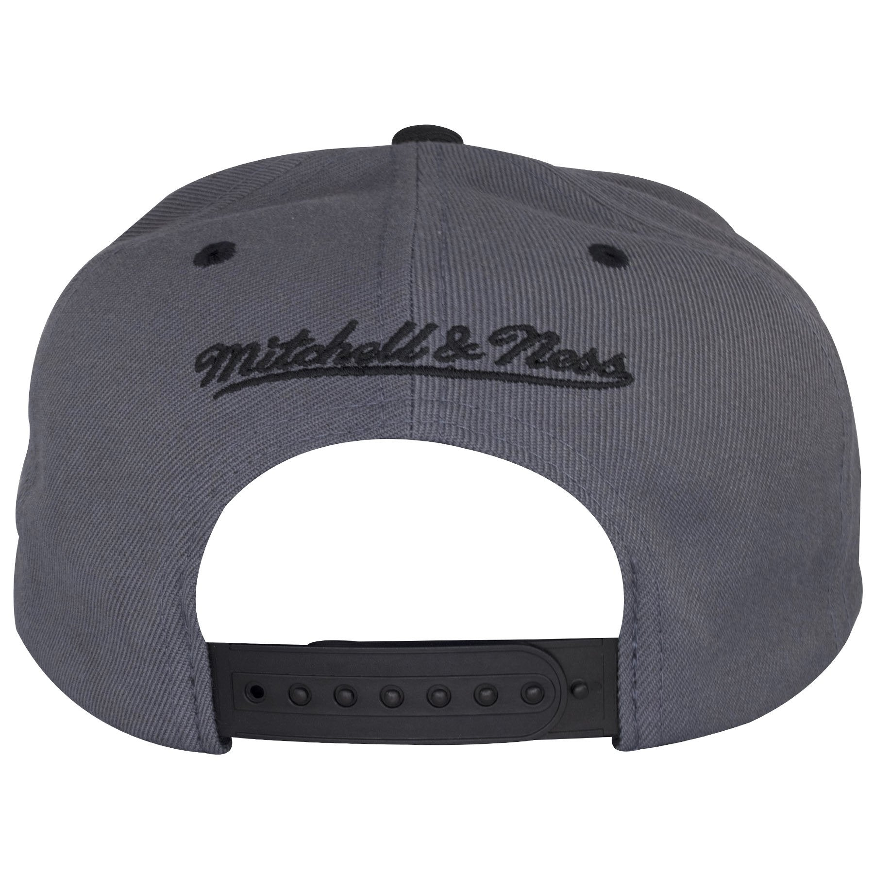 559892598b7 ... Jordan 13 snapback hat is outlined · The back of this Gray Chicago  Bulls Hat shows the Mitchell and Ness logo embroidered in ...