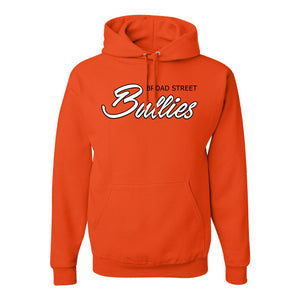 Broad Street Bullies Pullover Hoodie | Broad Street Bullies Orange Pullover Hoodie the front of this pullover hoodie has the bullies script