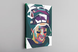 Wentz Mosaic Canvas | Carson Wentz Mosaic Wall Canvas this canvas has the mosaic wentz design