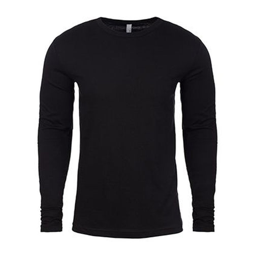 the blank black long sleeve is made of 100% ringspun cotton