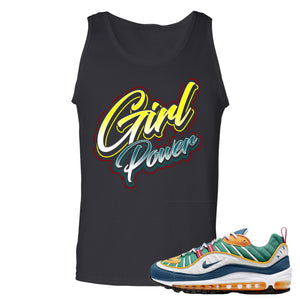 Nike WMNS Air Max 98 Multicolor Sneaker Hook Up Girl Power Black Mens Tank Top
