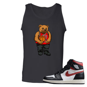 Air Jordan 1 Retro High Gym Red Sneaker Hook Up Polo Bear With Jersey Black Mens Tank Top