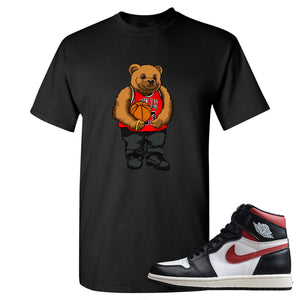 Air Jordan 1 Retro High Gym Red Sneaker Hook Up Polo Bear With Jersey Black T-Shirt