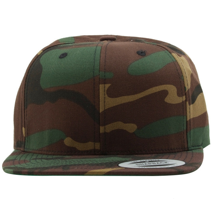 the blank camouflage snapback hat is solid camouflage with a structured  crown and a flat brim 24933ca9136
