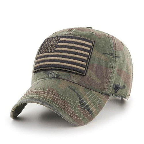 c3584689e On the front of the Operation Hat Trick OHT Woodland Camouflage Adjustable  Baseball Cap has a