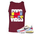 Nike WMNS Air Max 270 React Bauhaus Sneaker Hook Up Good Vibes Cardinal Red Mens Tank Top