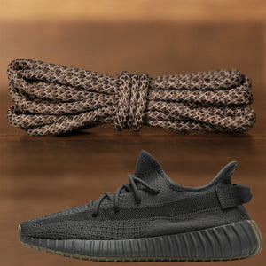 Match your pair of Yeezy Boost 350 V2 Cinder sneakers with these dark gray yeezy matching rope laces