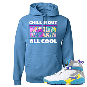 Air Jordan 8 WMNS White Aqua Sneaker Hook Up Chillin Out Maxin Relaxin All Cool Columbia Blue Hoodie