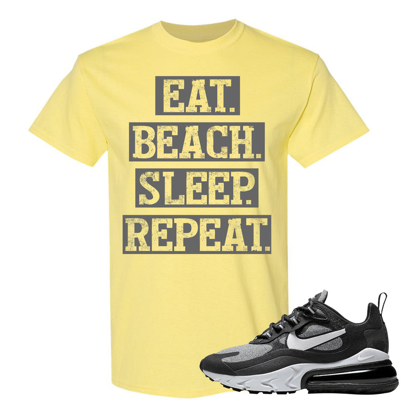 Nike WMNS Air Max 270 React Optical Sneaker Hook Up Eat Beach Sleep Repeat Cornsilk T-Shirt