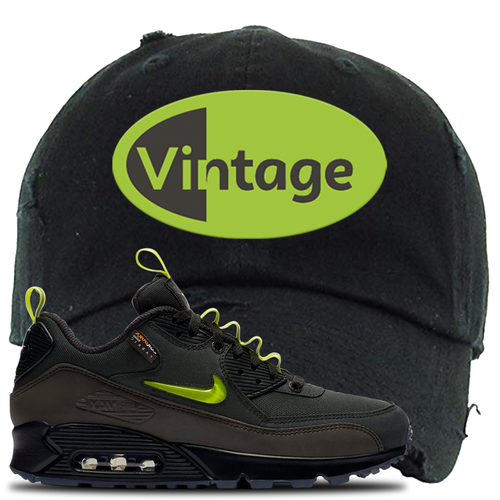 The Basement X Nike Air Max 90 Manchester Vintage Oval Black Sneaker Matching Dad Hat