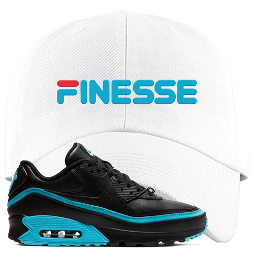 Undefeated x Nike Air Max 90 Black Blue Fury Finesse White Sneaker Matching Dad Hat