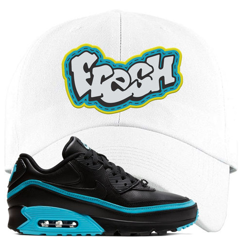 Undefeated x Nike Air Max 90 Black Blue Fury Fresh White Sneaker Matching Dad Hat