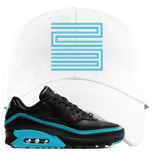 Undefeated x Nike Air Max 90 Black Blue Fury Jordan 11 23 White Sneaker Matching Dad Hat