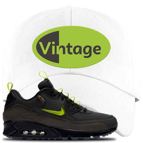 The Basement X Nike Air Max 90 Manchester Vintage Oval White Sneaker Matching Dad Hat