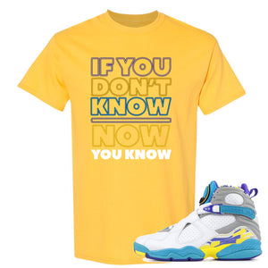 Air Jordan 8 WMNS White Aqua Sneaker Hook Up If You Don't Know Now You Know DAISY T-Shirt