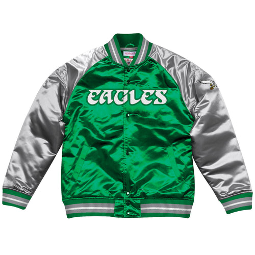 Men's Throwback Philadelphia Eagles Retro Satin Varsity Jacket