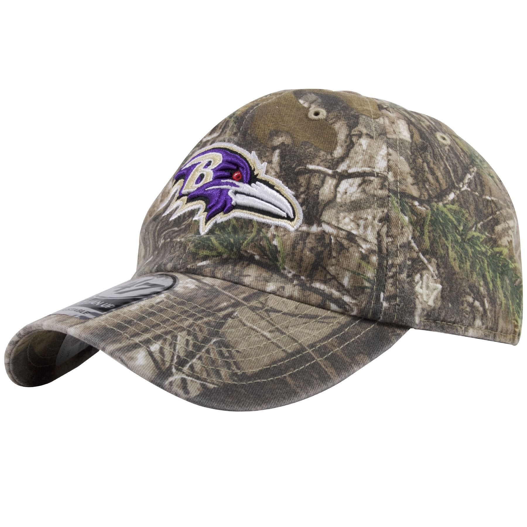 35f5c31d ... The left side of this 47 Brand Baltimore Ravens Clean Up Hat shows the  47 brand ...