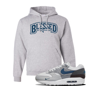 Air Max 1 London City Pack Hoodie | Ash, Blessed Arch