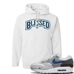 Air Max 1 'London City Pack' Sneaker White Pullover Hoodie | Hoodie to match Nike Air Max 1 'London City Pack' Shoes | Blessed Arch