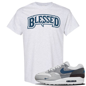 Air Max 1 'London City Pack' Sneaker Ash T Shirt | Tees to match Nike Air Max 1 'London City Pack' Shoes | Blessed Arch