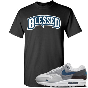 Air Max 1 'London City Pack' Sneaker Black T Shirt | Tees to match Nike Air Max 1 'London City Pack' Shoes | Blessed Arch