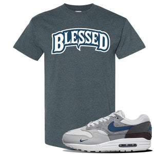 Air Max 1 'London City Pack' Sneaker Dark Heather T Shirt | Tees to match Nike Air Max 1 'London City Pack' Shoes | Blessed Arch