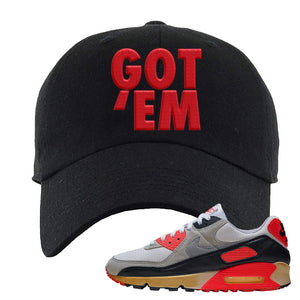 Air Max 90 Infrared Dad Hat | Got Em, Black