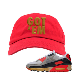 Air Max 90 Infrared Dad Hat | Got Em, Red