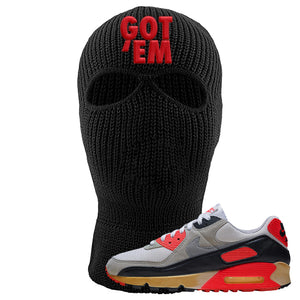 Air Max 90 Infrared Ski Mask 2 Hole | Got Em, Black