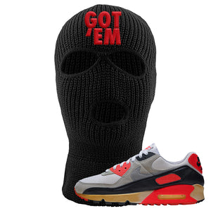 Air Max 90 Infrared Ski Mask 3 Hole | Got Em, Black