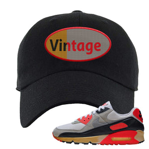 Air Max 90 Infrared Dad Hat | Vintage Oval, Black