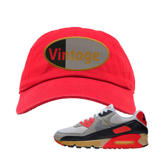 Air Max 90 Infrared Dad Hat | Vintage Oval, Red