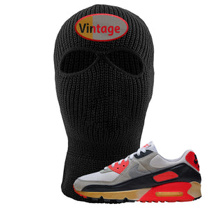 Air Max 90 Infrared Ski Mask 2 Hole | Vintage Oval, Black