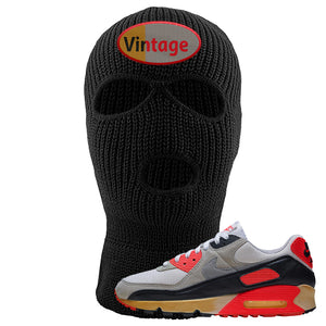 Air Max 90 Infrared Ski Mask 3 Hole | Vintage Oval, Black