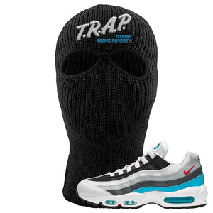 Air Max 95 Red Carpet Ski Mask 2 Hole | Trap To Rise Above Poverty, Black