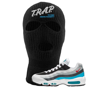 Air Max 95 Red Carpet Ski Mask | Trap To Rise Above Poverty, Black
