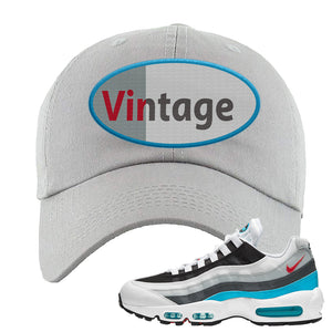 Air Max 95 Red Carpet Dad Hat | Vintage Oval, Light Gray