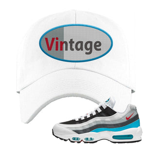 Air Max 95 Red Carpet Dad Hat | Vintage Oval, White